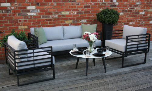 Osaka Lifestyle Coffee Table, Dining Bench & Lounge Chairs