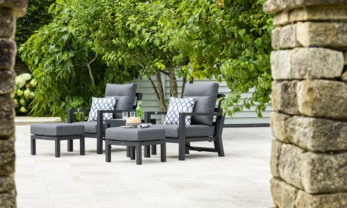 Bramblecrest La Rochelle 2 x Reclining Sofa Chairs with Footstools & Coffee Table