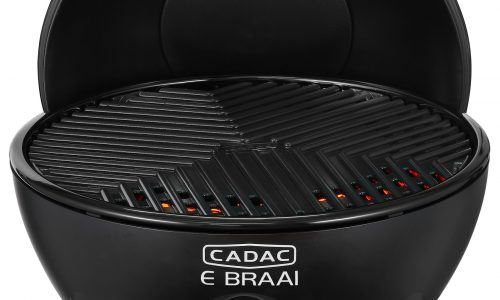 Cadac E Braai the electric BBQ - open with grill