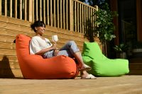 Extreme Lounging Outdoor B-Bag in orange and green