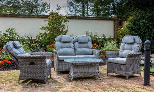 Glencrest Flamingo sofa set grey