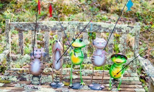 Jonart Design Animal Fishing Garden Accessories (10 Pieces)