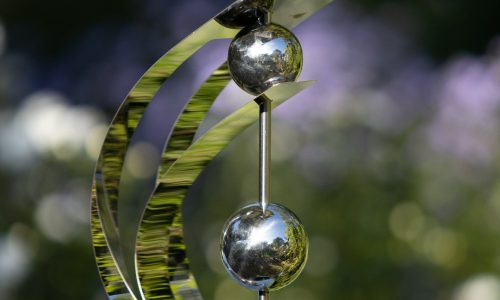 Jonart Design Stainless Steel Double Eye Ornament (6 Pieces)