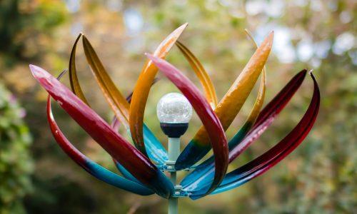 Jonart Design Tresco Multi-coloured Solar SP450 Wind Sculpture
