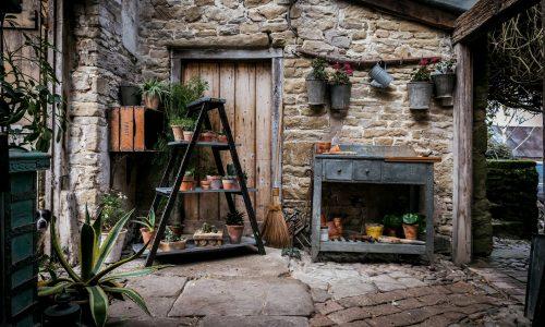 Kadai Plant Ladder and Potting Table