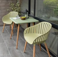 LifestyleGarden Nassau carver chair, and square table