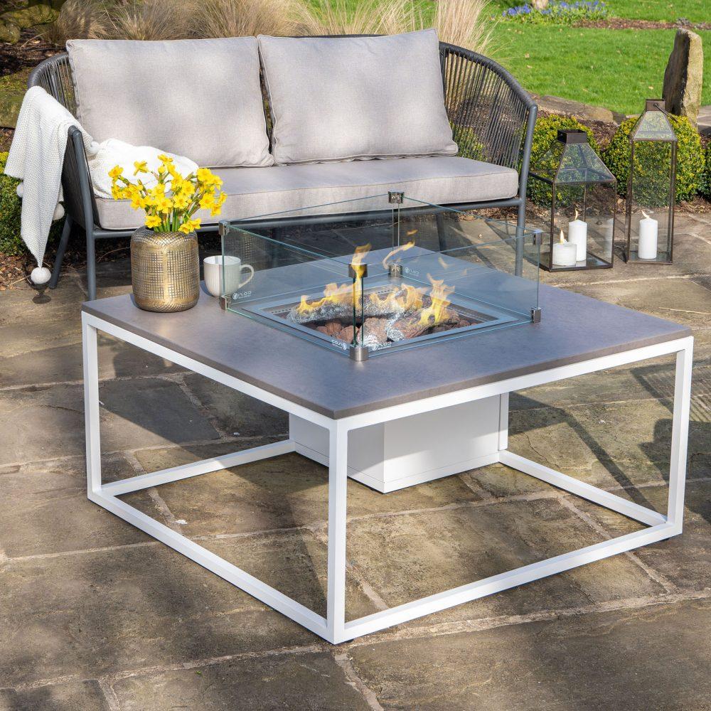 Pacific Cosiloft White Fire Table