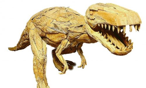 Tripod Home Wood Chip Dinosaur