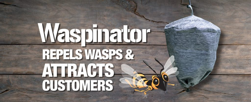 Waspinator repels wasps & attracts customers