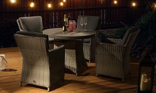 Desser Hilton 4 seat dining set
