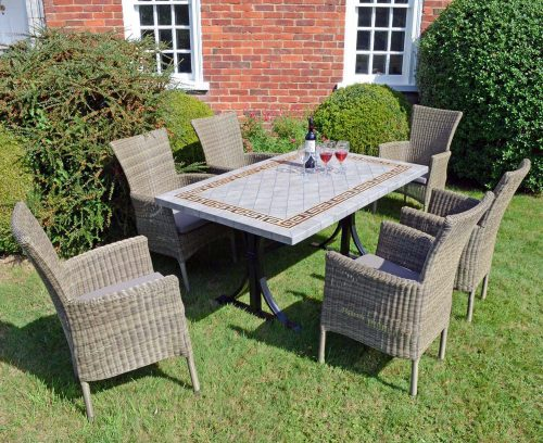 Europa Leisure Burlington Dining Table with 6 Dorchester Chairs Set