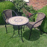 Europa Leisure Summer Terrace - Brava bistro tasble with San Remo chairs