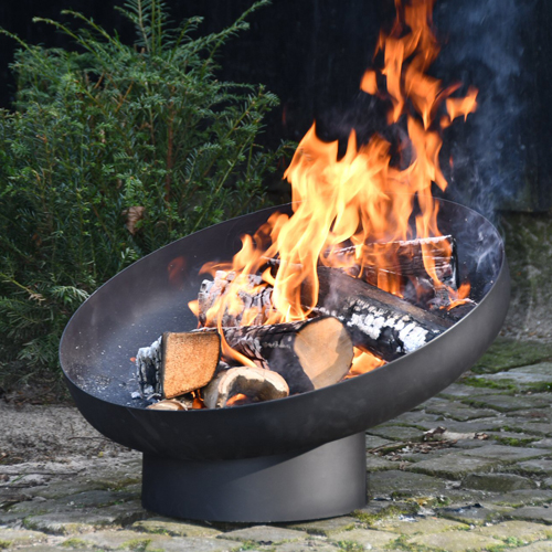 Fallen Fruits Fire Bowl FF402 with flames