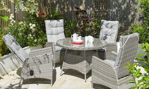Garden Furniture Global Harbo Trieste 4 chair recline