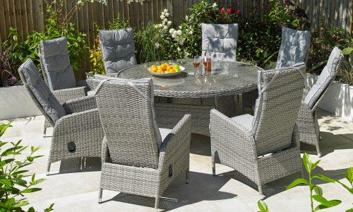 Garden Furniture Global Harbo Trieste 8 chair recline