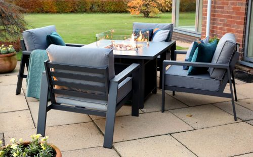 Supremo Leisure Melbury 4 Seat Lounge Set with Fire Pit