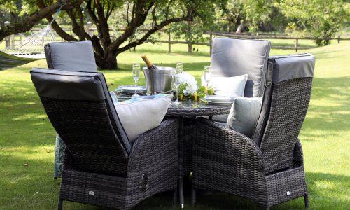 Supremo Leisure Tivoli 4 Seat Reclining Dining Set