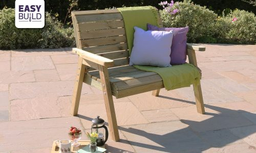 Zest 4 Leisure Charlotte 2 Seater Bench w EASY BUILD