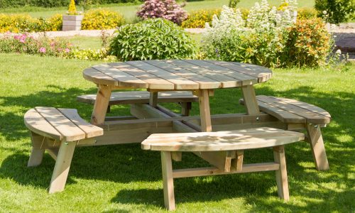 Zest 4 Leisure Rose Round Picnic Table